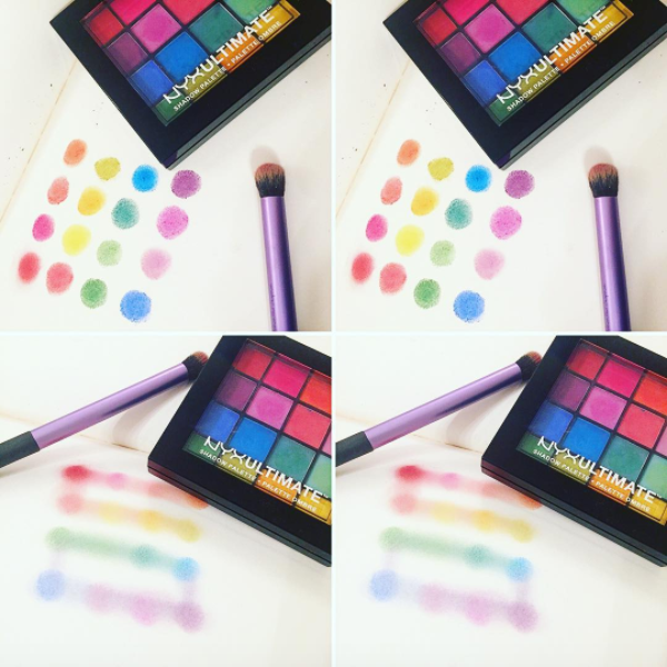 Nyx Ultimate Eyeshadow Palette: Brights